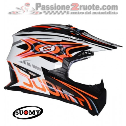 Casco moto cross enduro motard Suomy Rumble Vision arancione orange off Road helmet casque