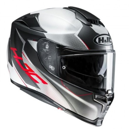 Casco Integrale moto fibra Hjc Rpha 70 Gadivo bianco nero rosso white black red Mc10sf Helmet Casque