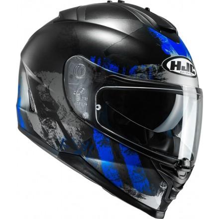 Casco Integrale moto Hjc Is-17 Shapy Mc2 nero blu black blue helmet casque