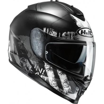 Casco integrale moto Hjc Is-17 Shapy Mc5sf nero bianco helmet