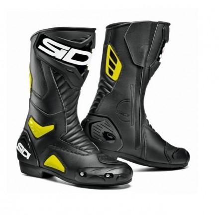 Stivali stivale racing pista corsa moto Sidi Performer nero giallo boots