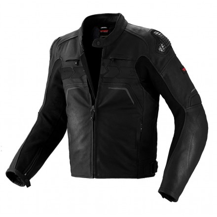 Giacca pelle moto Spidi Evorider nero black leather jacket
