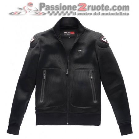 Felpa giacca moto traforata Blauer Easy Air Black jacket sweatshirt