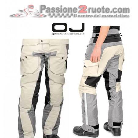 Pantaloni moto triplo strato adventure touring Oj Desert Evo ghiaccio nero Ice black pant trouser