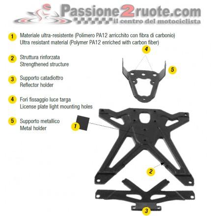 Porta Targa Ducati Hypermotard 1100 (07-11) - 796 Lightech TARDU105