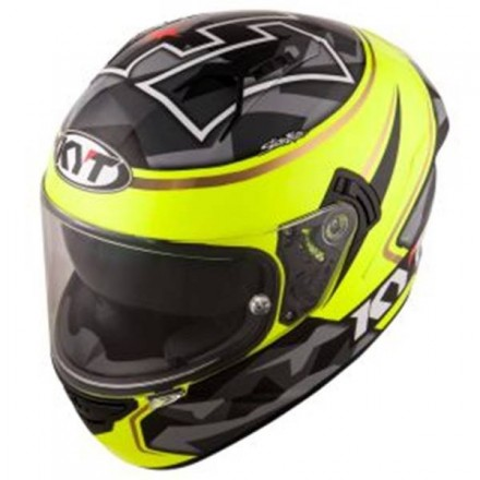Casco integrale moto KYT NFR Espargaro replica grey yellow helmet casque