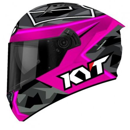 Casco integrale moto KYT NFR Espargaro replica fuxia helmet casque