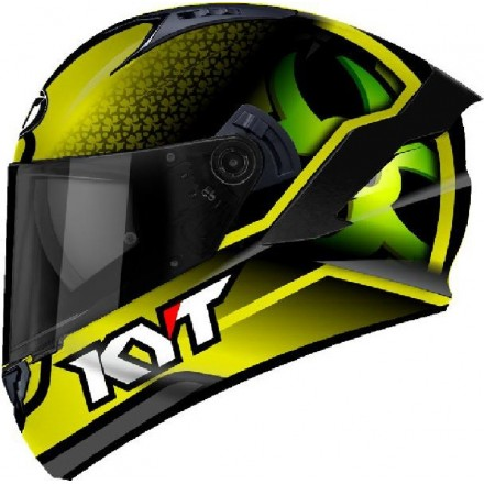 Casco integrale moto KYT NFR Hyper Fluo giallo yellow helmet casque