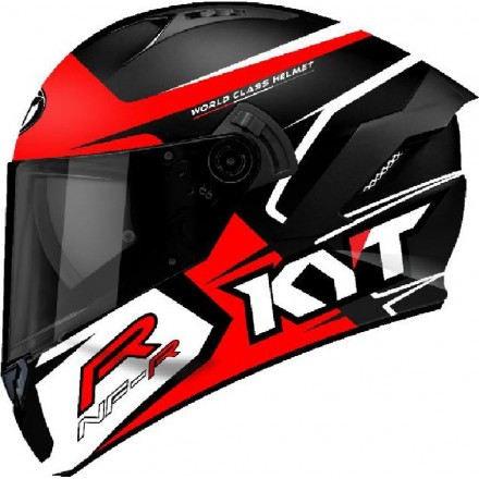 Casco integrale moto KYT NFR Track nero rosso black red helmet casque