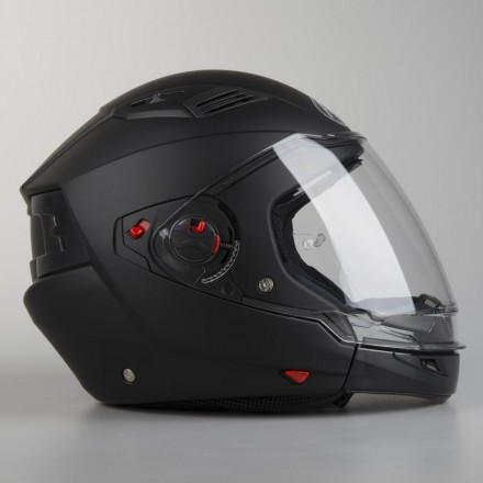 Casco crossover Airoh Executive nero opaco black matt moto helmet
