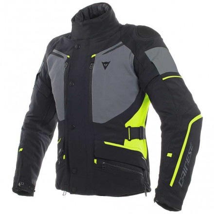 Giacca moto touring Dainese Carve Master 2 Goretex nero giallo black fluo yellow jacket