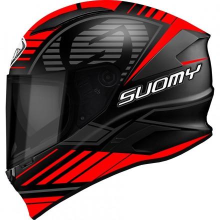 Casco integrale moto carbonio Suomy Speedstar Sp-1 nero opaco rosso black matt red helmet casque