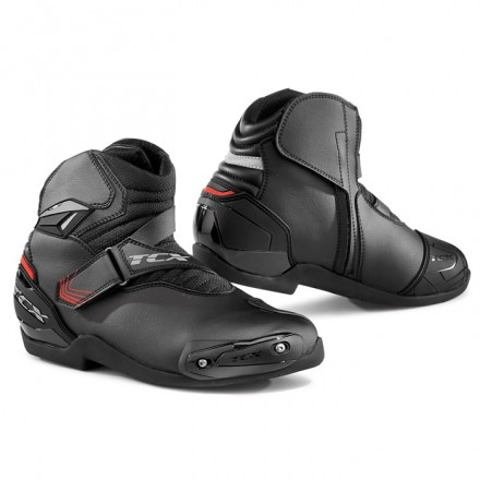 Scarpe moto sportive con slider Tcx Roadster 2 nero black racing shoes