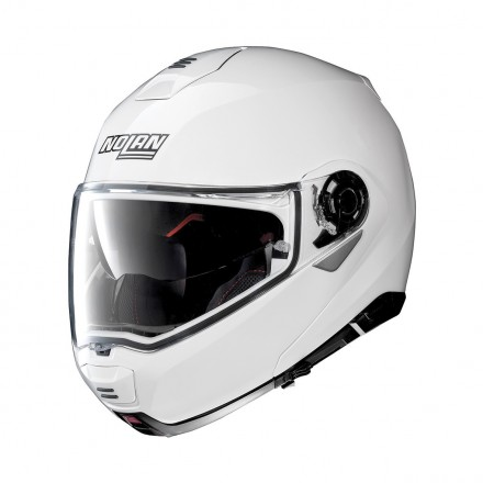 Casco modulare apribile moto Nolan N100-5 Ncom bianco white flip up helmet casque