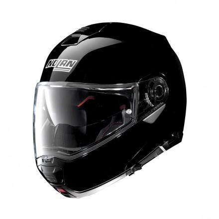 Casco modulare apribile moto Nolan N100-5 Ncom nero lucido black flip up helmet casque