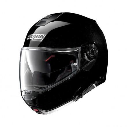 Casco modulare apribile moto Nolan N100-5 Special nero lucido Metal Black Ncom flip up helmet casque