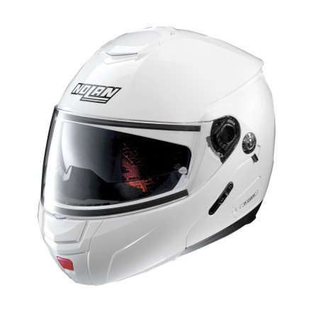 Casco modulare apribile moto N90-2 Classic bianco metal White 5 Ncom flip up helmet casque