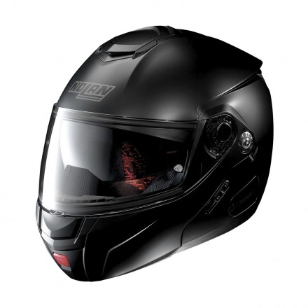 Casco modulare apribile moto Nolan N90.2 Classic nero opaco Flat Black Ncom flip up helmet casque