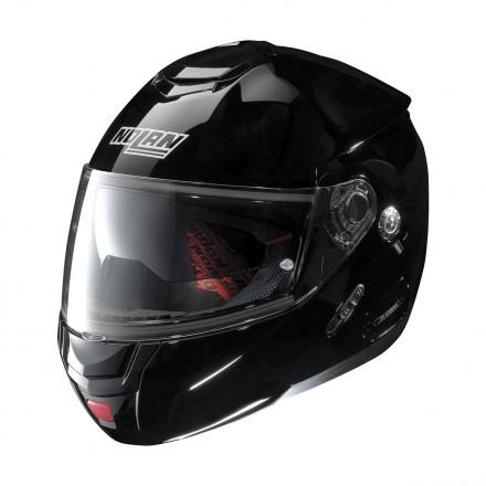 Casco modulare apribile moto Nolna N90.2 Classic nero lucido glossy Black 3 Ncom flip up helmet casque
