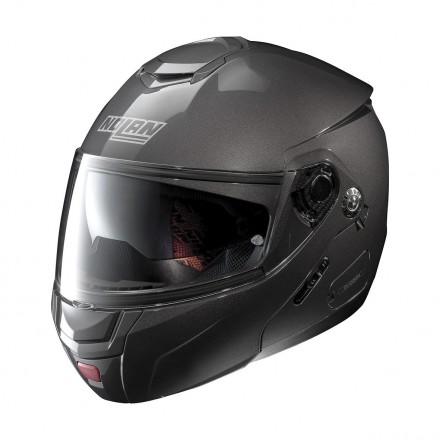 Casco modulare apribile moto Nolan N90.2 Classic Grigio Lava Grey 4 Ncom flip up helmet casque