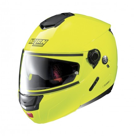 Casco modulare apribile moto N90-2 Hi-Visibility Giallo Yellow Fluo 22 Ncom flip up helmet casque