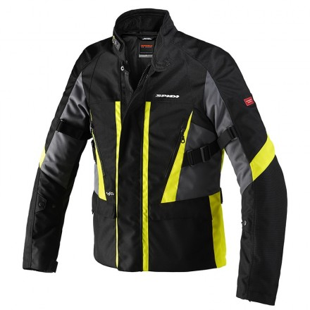 Giacca moto invernale Spidi Traveler 2 black yellow jacket