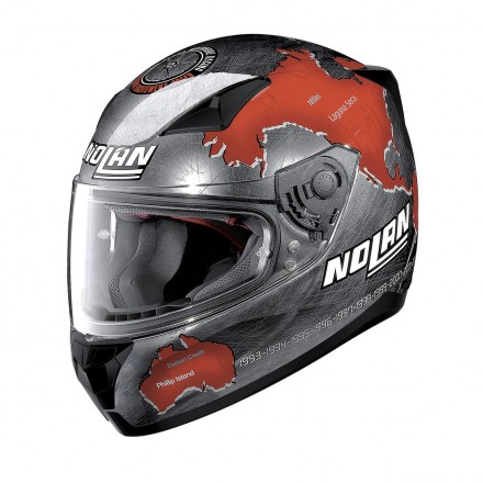 Casco integrale moto Nolan N60-5 Gemini Replica Checa Scratched Chrome 27 helmet