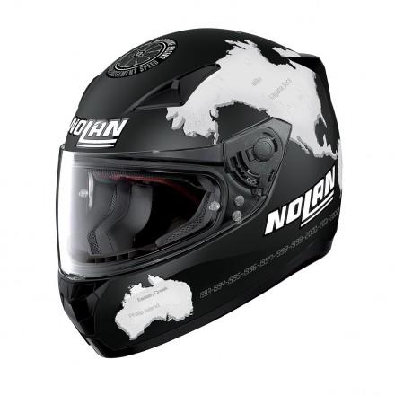 Casco integrale moto Nolan N60-5 Gemini Replica Checa Flat Black 28 helmet