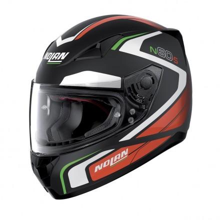 Casco integrale moto N60-5 Practice 20 Nero opaco bianco rosso verde Flat Black white red green helmet casque