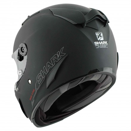 Casco integrale moto fibra Shark Race-R Pro nero opaco black matt helmet casque