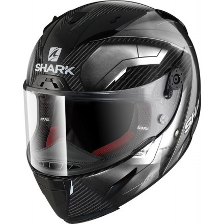 Casco integrale moto carbonio Shark Race-R Pro Carbon Deager white helmet casque