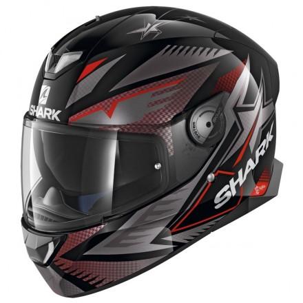 Casco integrale moto Shark Skwal 2 Draghal nero grigio rosso black red helmet casque