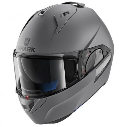 Casco modulare apribile convertibile moto Shark Evo One 2 grigio antracite opaco grey matt flip-up helmet casque