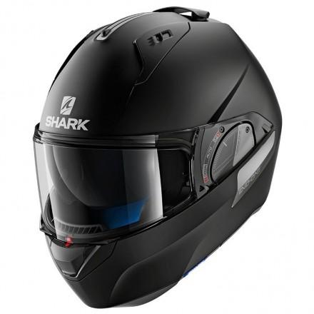 Casco modulare apribile convertibile moto Shark Evo One 2 nero opaco black matt flip-up helmet casque