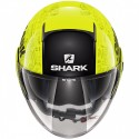 Casco jet moto scooter visiera lunga Shark Nano Tribute Giallo Nero yellow black helmet casque