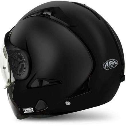 Casco integrale modulare jet mentoniera estraibilie Airoh J106 nero opaco black matt helmet casque