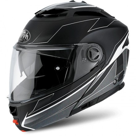 Casco modulare apribile moto Airoh Phantom S Spirit nero opaco black matt flip-up helmet casque