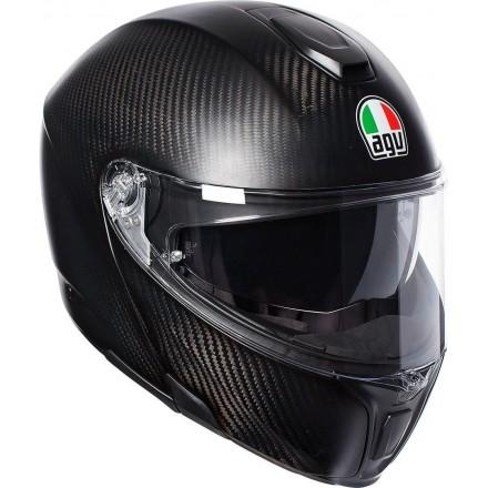 Casco modulare carbonio moto Agv Sport Modular Mat Carbon flip up helmet