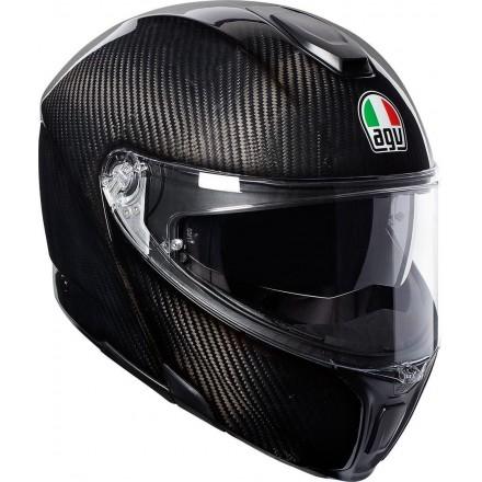 Casco modulare carbonio Agv Sport Modular Glossy Carbon flip up helmet