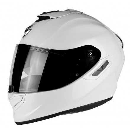 Casco integrale fibra moto Scorpion Exo 1400 Bianco white helmet casque