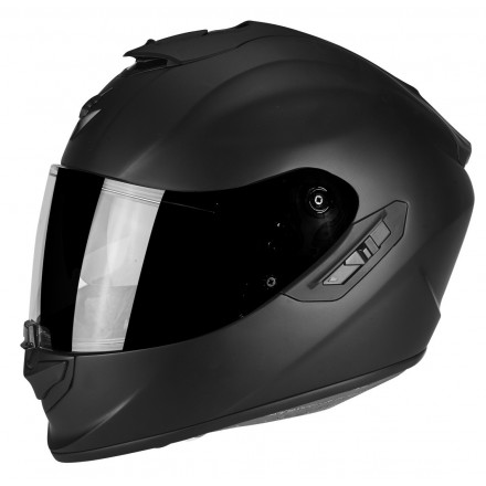 Casco integrale fibra moto Scorpion Exo 1400 nero opaco black matt helmet casque