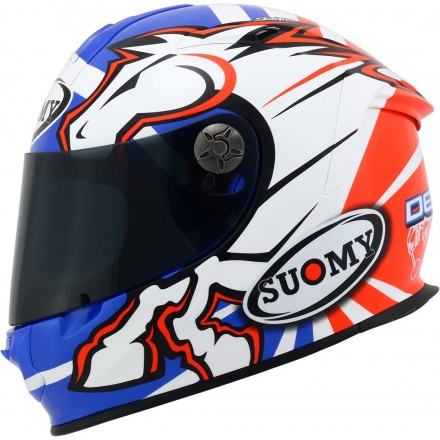 Casco integrale fibra moto racing pista corsa Suomy Dovizioso Gp Replica helmet casque