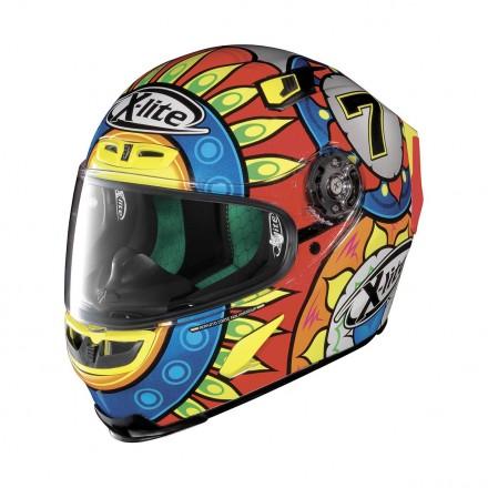 Casco integrale fibra moto X lite X803 Replica Davies 19 full face helmet casque