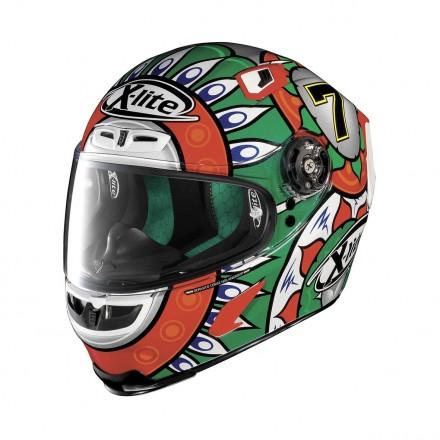 Casco integrale fibra moto X lite X803 Replica Davies Italy 20 full face helmet casque