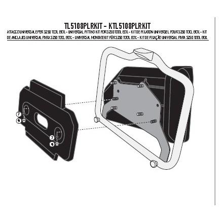 Attacco Givi TL5108PLRKIT Tool Box Bmw R1200 Gs 2013-18