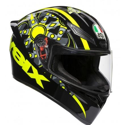 Casco integrale moto Agv K1 Valentino Rossi Flavum 46 helmet