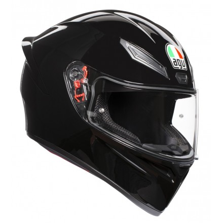 Casco integrale Agv K1 nero lucido Black helmet