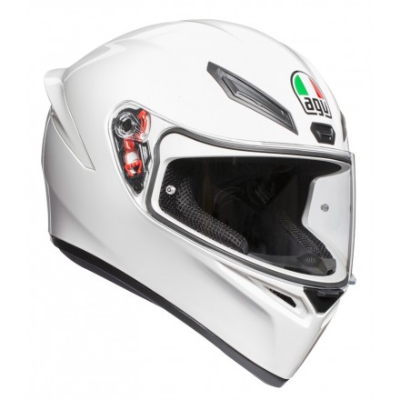 Casco integrale moto Agv K1 bianco White helmet