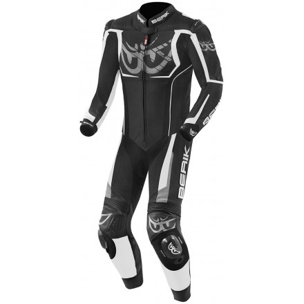 Tuta Intera pelle moto racing pista Berik NexG Black White leather suit