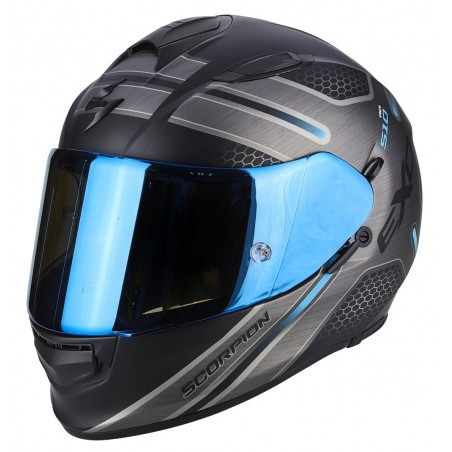 Casco integrale moto Scorpion Exo-510 Air Route nero opaco blu black matt blue helmet casque
